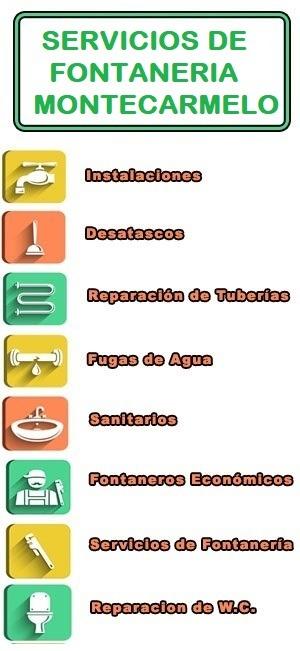 servicios de fontaneria en Montecarmelo